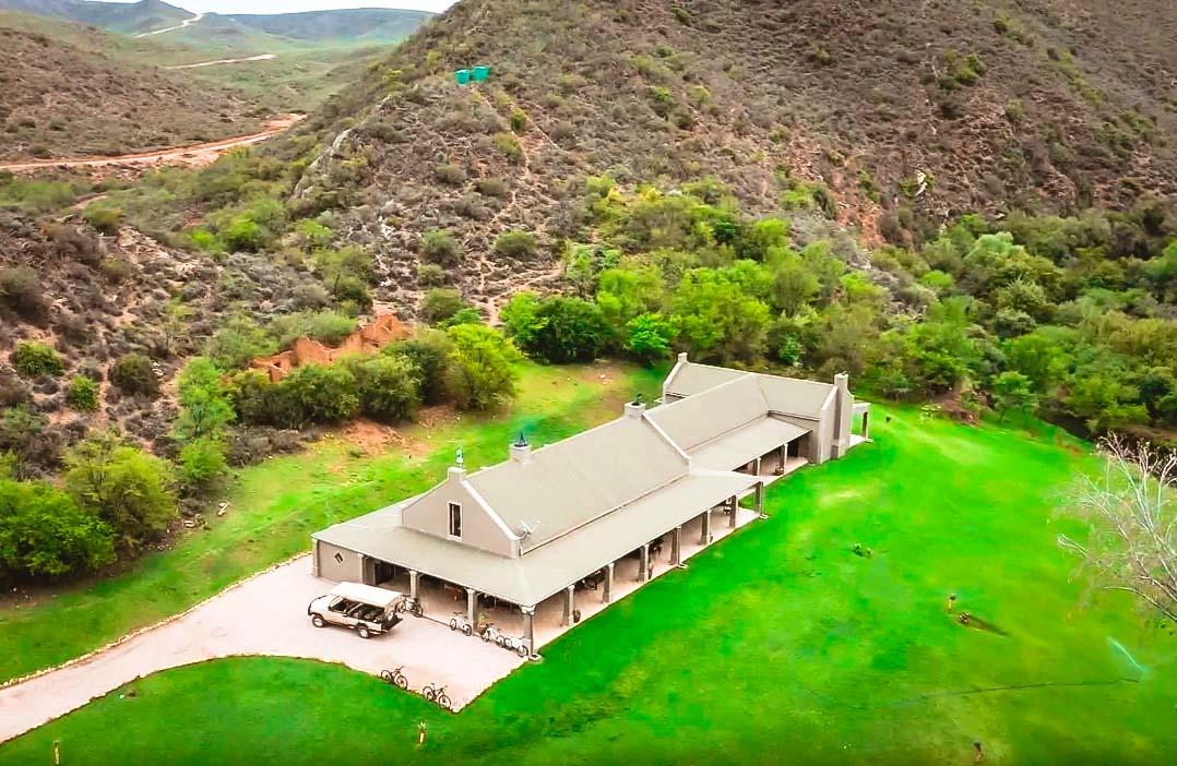 WHKloof lodge aerial view