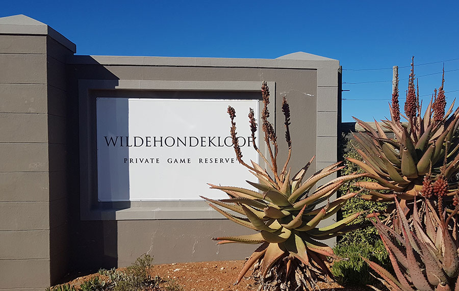 Wildehondekloof Private Game Reserve Entrance
