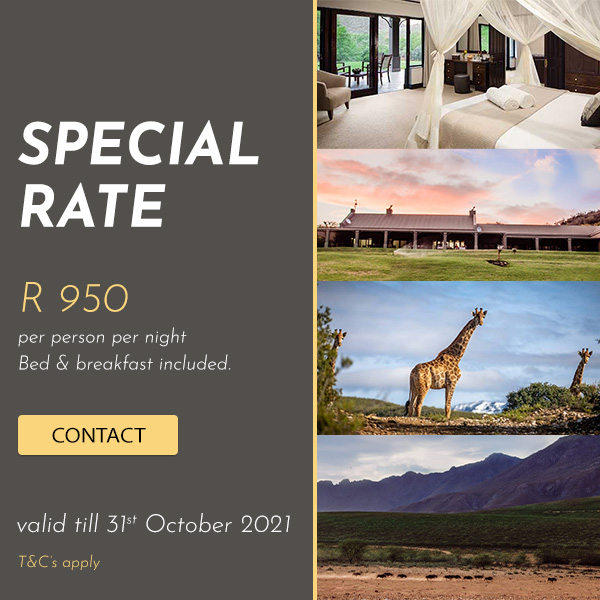 whkloof self catering special october 2021